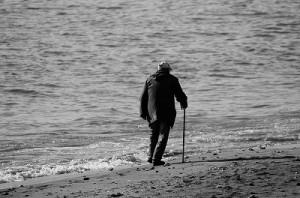 杖  老人